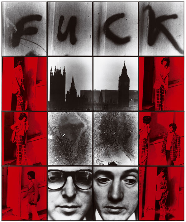 Cuadro F U C K de Gilbert and George