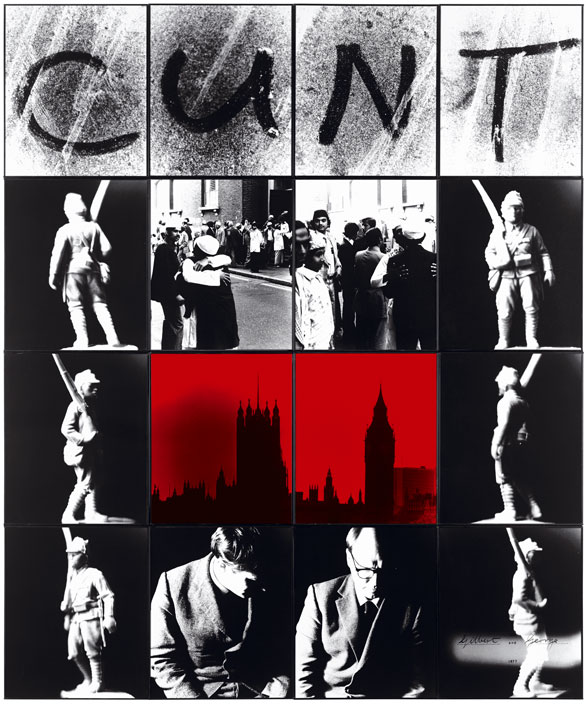 Cuadro C U N T de Gilbert and George