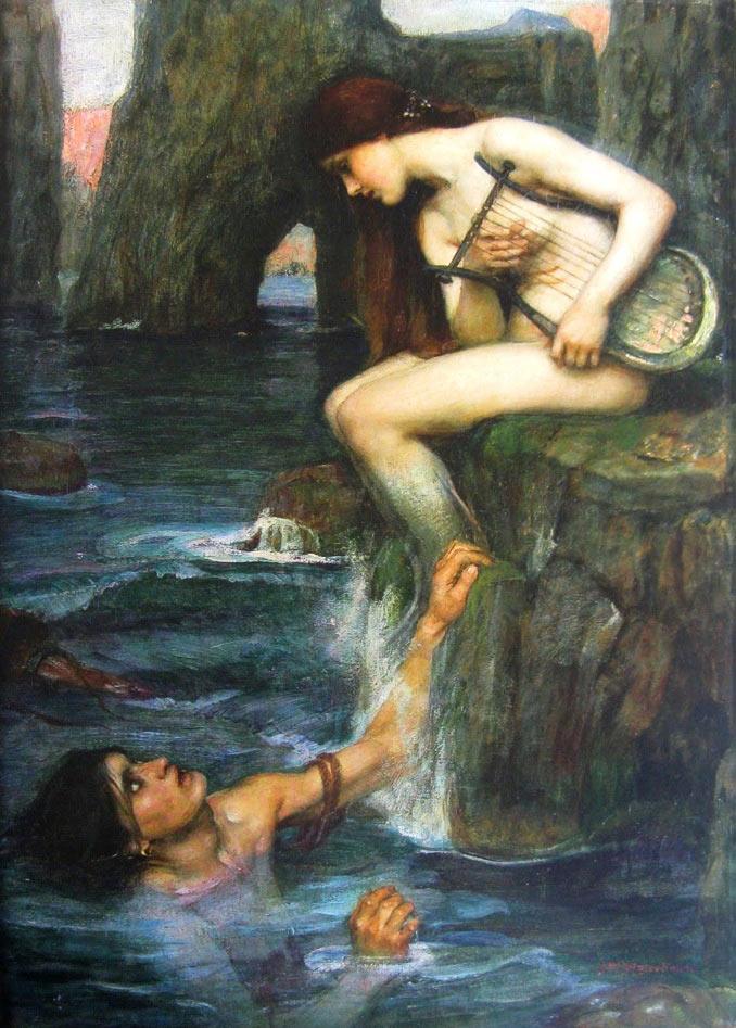 Pintura La Sirena de Waterhouse