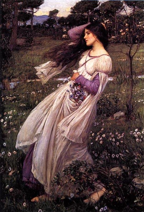 Mujer pintada por Waterhouse