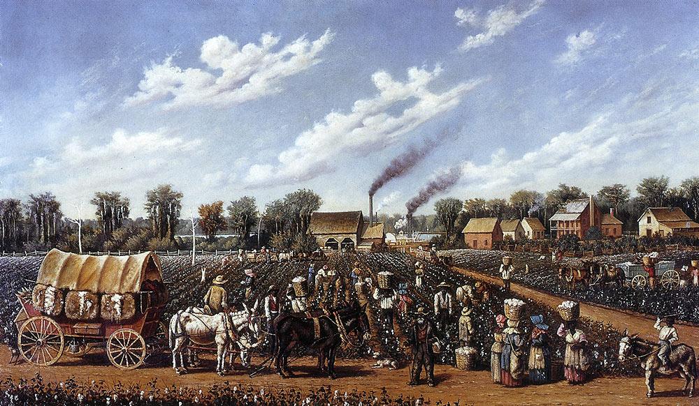 Pintura Plantación de algodón en Mississipi