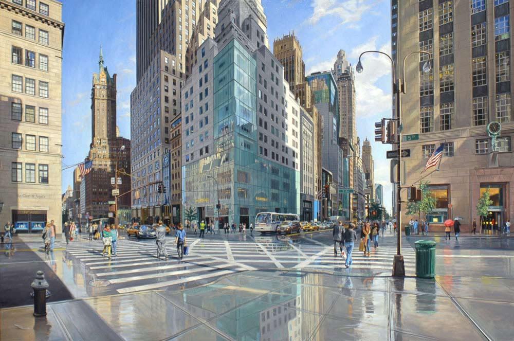 Pintura 57th Street and 5th Avenue, Robert Neffson