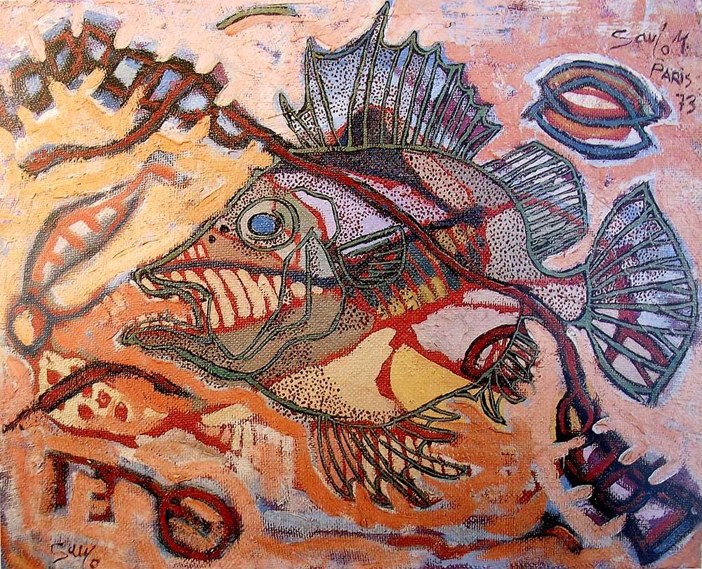 Ochavo, pintura de Saulo Mercader