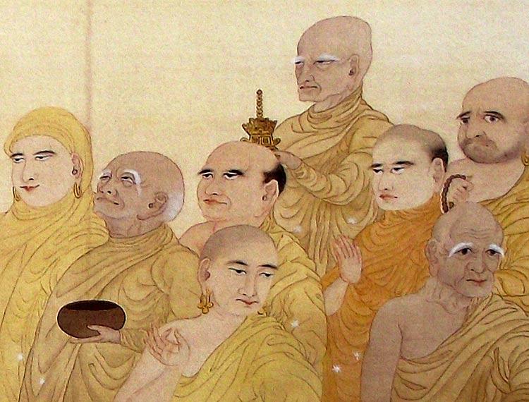 Yokoyama Taikan, Monjes budistas