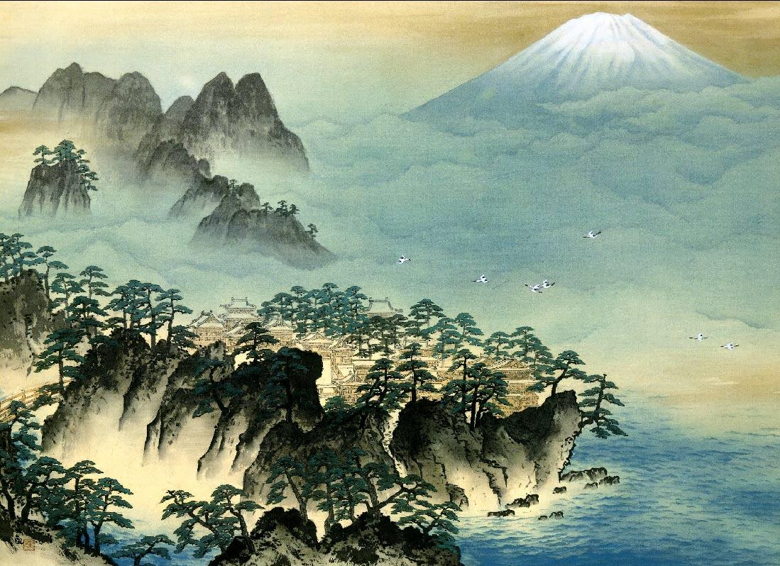 Yokoyama Taikan, La montaña de los inmortales