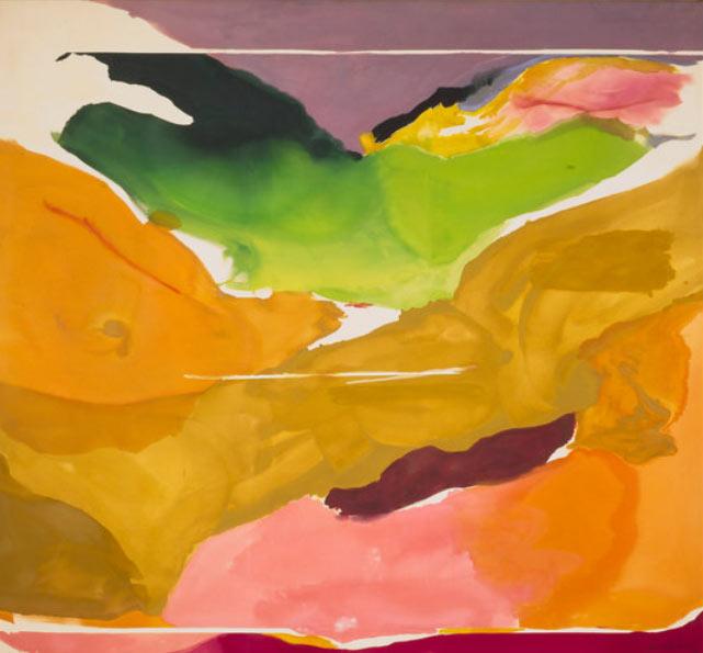 La naturaleza aborrece el vacío de Helen Frankenthaler